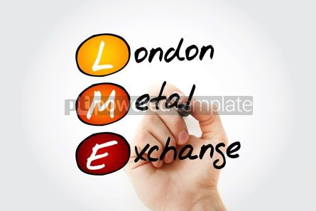 Business: LME - London Metal Exchange acronym with marker business concep #11732