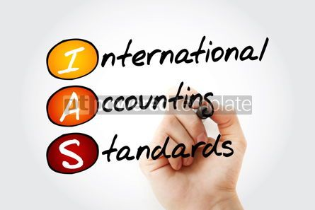 Business: IAS - International Accounting Standards acronym with marker bu #11737