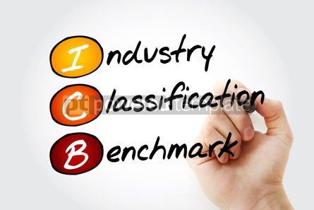 Business: ICB - Industry Classification Benchmark acronym with marker tec #11738