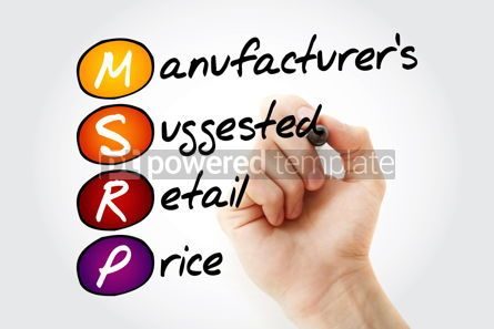 Business: MSRP - Manufacturer's Suggested Retail Price acronym with marker #11744