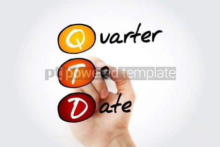 Business: QTD - Quarter To Date acronym with marker business concept back #11751