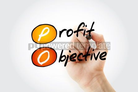 Business: PO - Profit Objective acronym with marker business concept back #11752