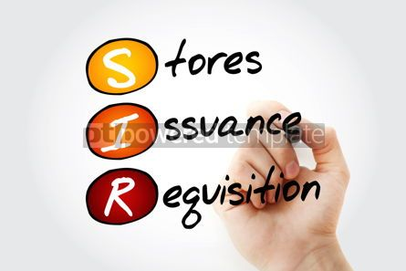 Business: SIR - Stores Issuance Requisition acronym with marker business  #11754