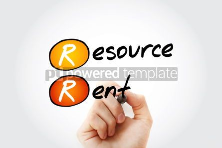 Business: RR - Resource Rent acronym with marker business concept backgro #11755