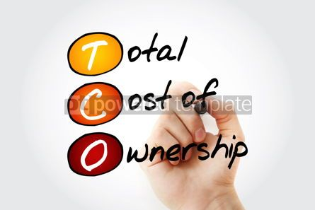 Business: TCO - Total Cost of Ownership acronym with marker business conc #11759