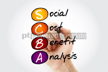 Business: SCBA - Social Cost Benefit Analysis acronym with marker busines #11760