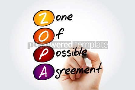 Business: ZOPA - Zone Of Possible Agreement acronym with marker business  #11763