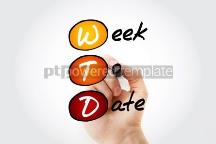 Business: WTD - Week To Date acronym with marker business concept backgro #11767