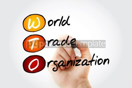 Business: WTO - World Trade Organization acronym with marker business con #11768