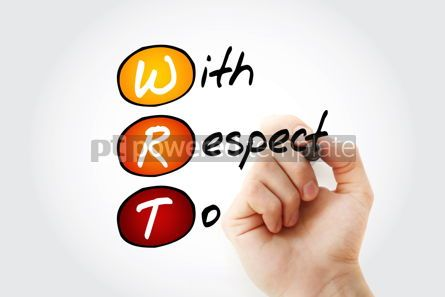 Business: WRT - With Respect To acronym with marker concept background #11771