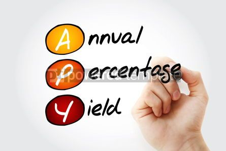 Business: APY - Annual Percentage Yield acronym with marker business conc #11774