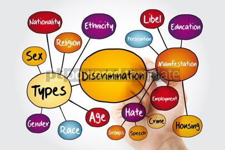 Business: Discrimination mind map flowchart social concept with marker #11780