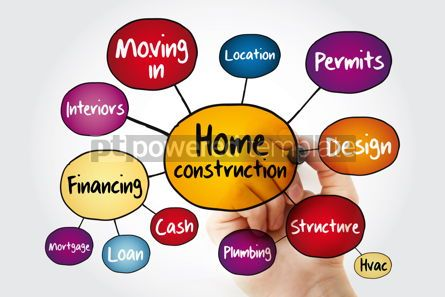 Business: Home construction mind map flowchart concept with marker #11785