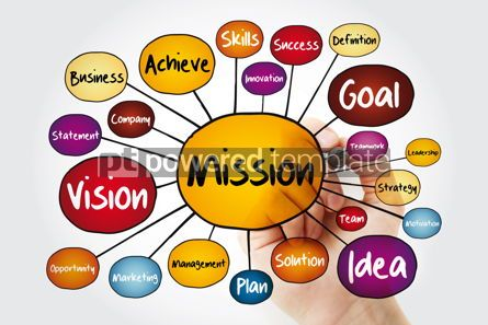Business: MISSION mind map flowchart with marker business concept for pre #11833