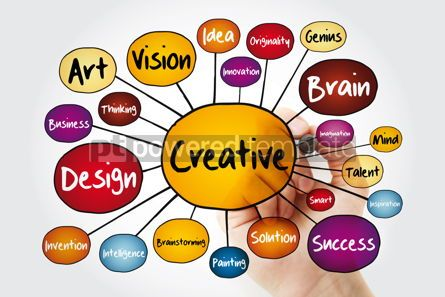 Business: CREATIVE mind map flowchart with marker business concept for pr #11835
