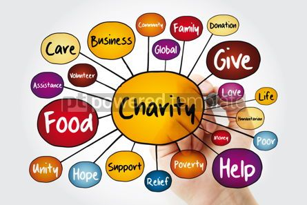 Business: Charity mind map flowchart with marker business concept for pre #11841