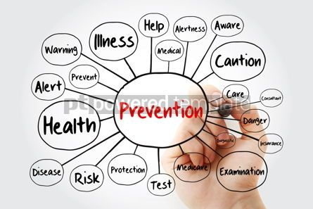 Health: Prevention mind map flowchart with marker concept for presentat #11848