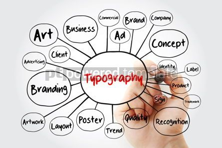 Business: TYPOGRAPHY mind map with marker creative concept for presentati #11851
