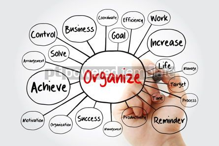 Business: ORGANIZE mind map flowchart business concept with marker #11852