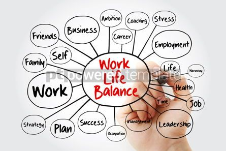 Business: Work Life Balance mind map flowchart with marker business conce #11861