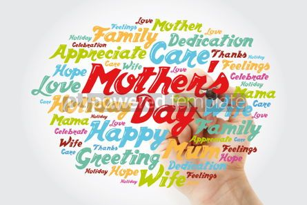 Holidays: Mother's Day word cloud with marker care love family concept  #11877
