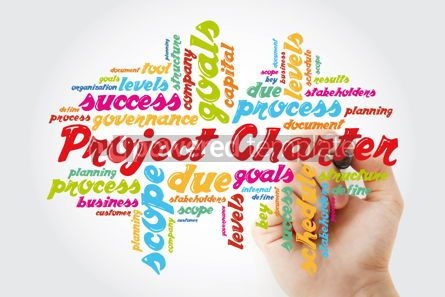 Business: Project Charter word cloud collage business terms such as metho #11886