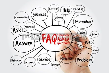 Business: FAQ - Frequently Asked Questions mind map flowchart with marker #11925