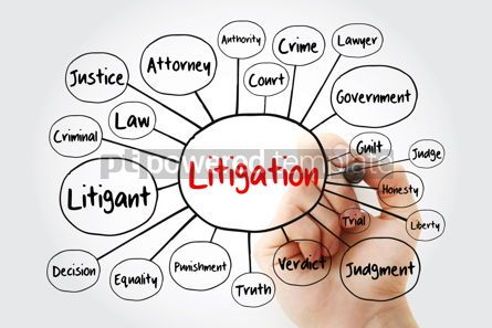 Business: Litigation mind map flowchart with marker law concept for prese #11946