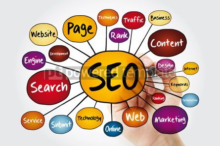 Business: SEO - Search Engine Optimization mind map with marker technolog #11963