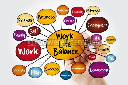 Business: Work Life Balance mind map flowchart with marker business conce #11970