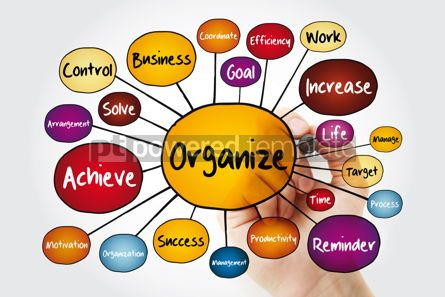 Business: ORGANIZE mind map flowchart with marker business concept for pr #11971