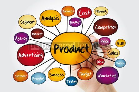Business: PRODUCT mind map flowchart with marker business concept for pre #11990