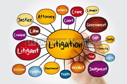 Business: Litigation mind map flowchart with marker law concept for prese #11994