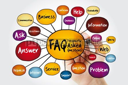 Business: FAQ - Frequently Asked Questions mind map flowchart with marker #11996