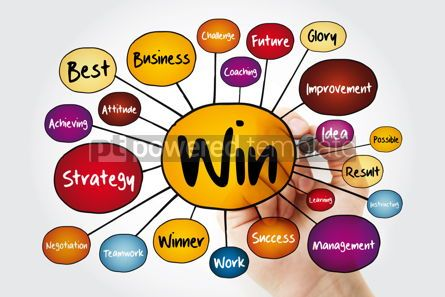 Business: WIN mind map flowchart with marker business concept for present #11997
