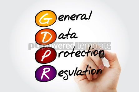 Education: GDPR - General Data Protection Regulation acronym with marker t #12006