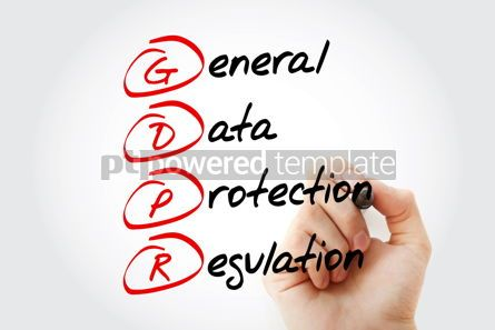 Education: GDPR - General Data Protection Regulation acronym with marker t #12007
