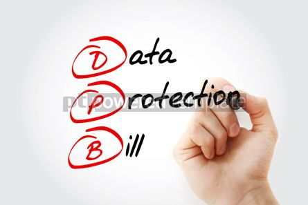 Education: DPB - Data Protection Bill acronym with marker technology conce #12009