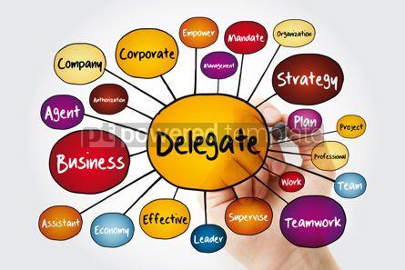 Business: Delegate mind map flowchart with marker business concept for pr #12010