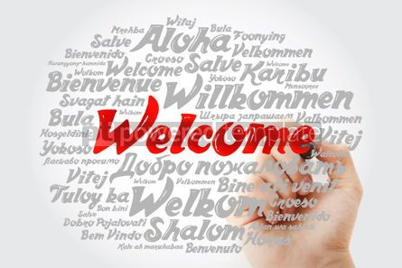 Business: WELCOME word cloud in different languages conceptual background #12023