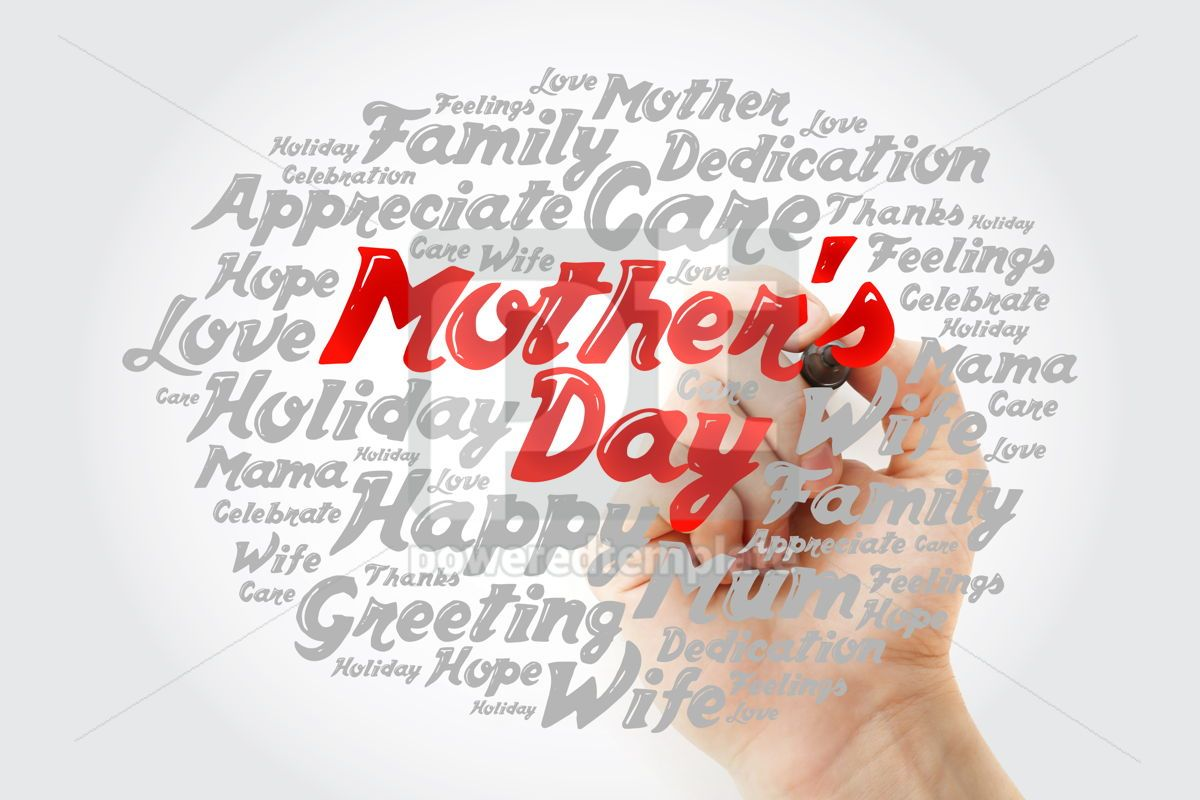 Mother's Day word cloud with marker care love family concept , 12024, Holidays — PoweredTemplate.com