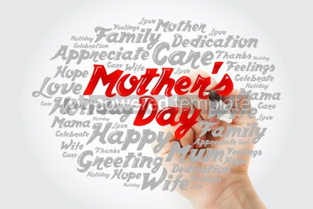 Holidays: Mother's Day word cloud with marker care love family concept  #12024
