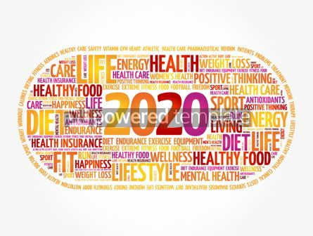 Health: 2020 health and sport goals word cloud #12029
