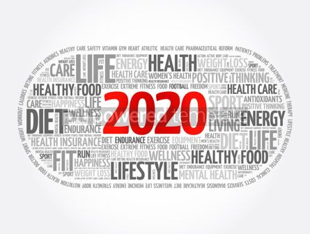 Health: 2020 health and sport goals word cloud #12030