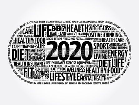 Health: 2020 health and sport goals word cloud #12031