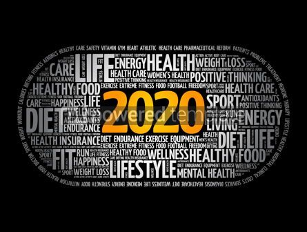 Health: 2020 health and sport goals word cloud #12032