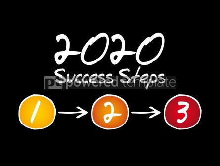 Business: 2020 Success Steps infographics business concept #12037