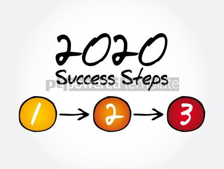 Business: 2020 Success Steps infographics business concept #12038