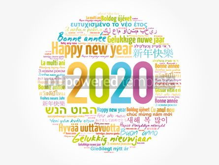 Business: 2020 Happy New Year in different languages #12041