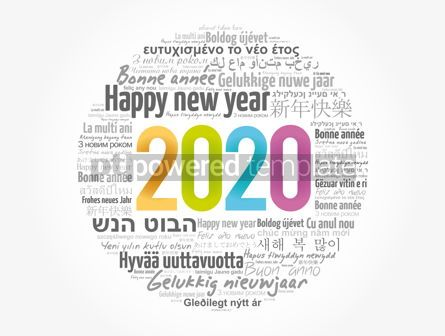 Business: 2020 Happy New Year in different languages #12042